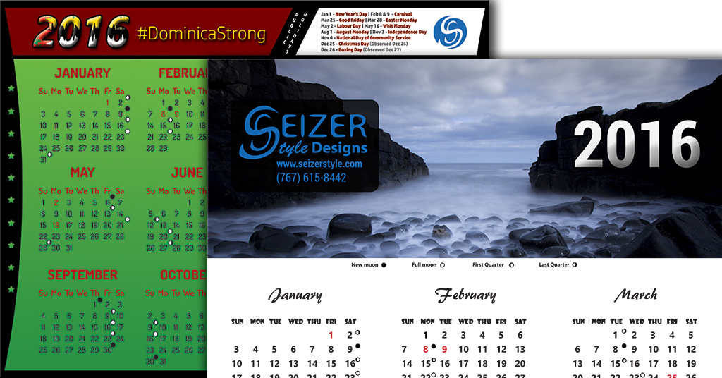 2016 Calendar Collection - SeizerStyle Designs Blog