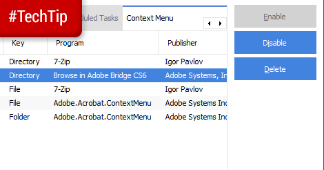 Tech Tip: MAnage Context Menus with CCleaner